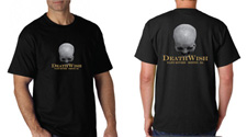 Adult sized tee-shirt with DeathWish logo front and back